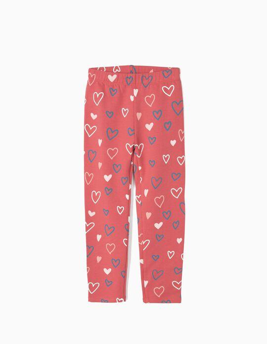 Leggings para Menina 'Hearts', Rosa