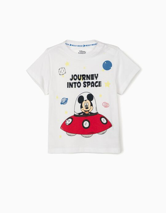 T-shirt for Baby Boys, 'Mickey into Space', White