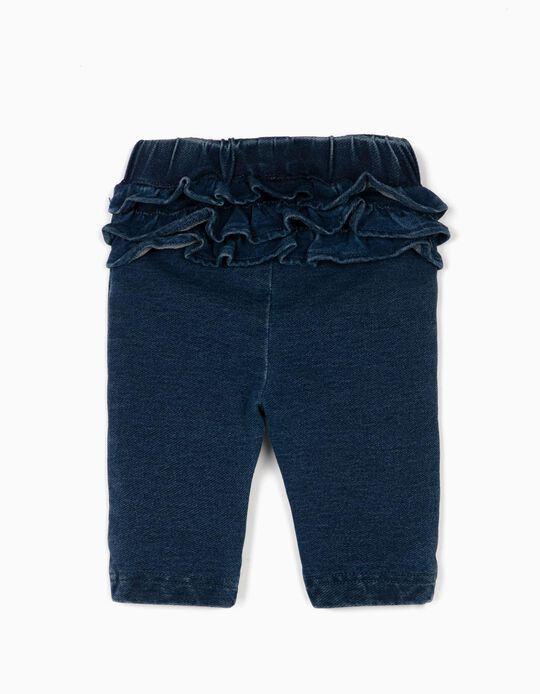 Jeggings for Newborn Baby Girls, 'Comfort Denim', Dark Blue