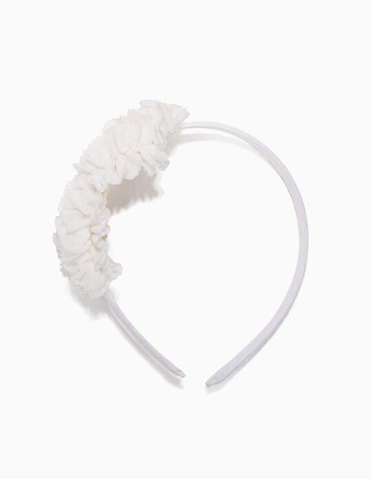 Bandolete Branca Flores