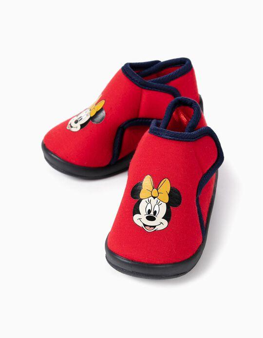 Pantufas para Bebé Menina 'Minnie Christmas', Vermelho