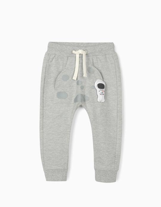 Pantalon de sport bébé garçon 'Astronaut', gris