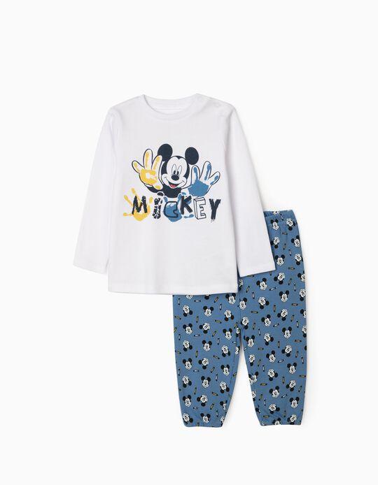 Pyjama bébé garçon 'Mickey', blanc/bleu