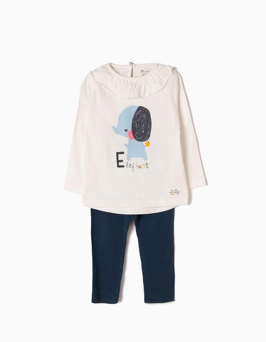 T-shirt Manga Comprida e Leggings Elephant