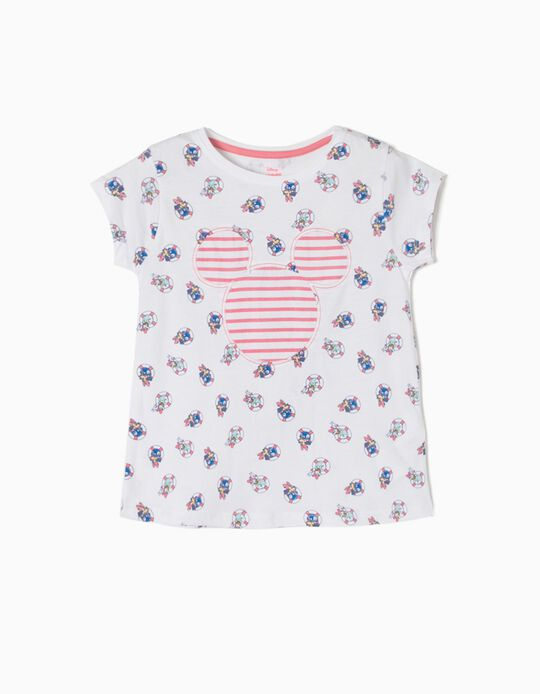 T-shirt Riscas Minnie & Daisy