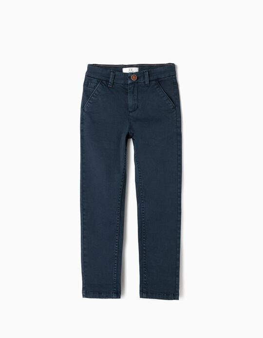 Chino Trousers for Boys, Dark Blue