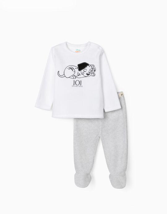 Pijama Polar para Bebé '101 Dalmatians', Branco/Cinza
