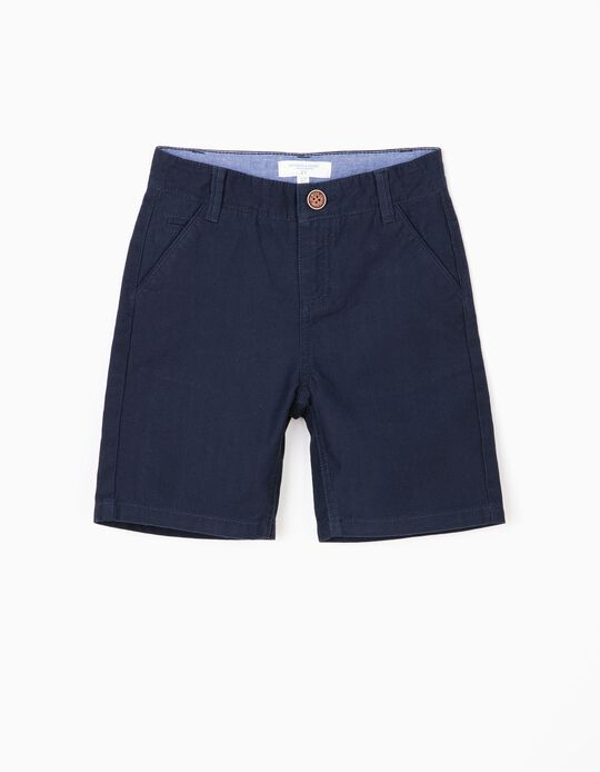 Short para Niño 'B&S' con Relieve, Azul Oscuro