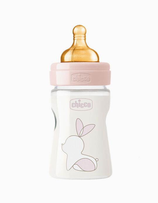 Biberon verre 150ml CHICCO, Rose