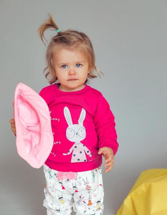 Sweatshirt para Bebé Menina 'Cute Bunny', Rosa