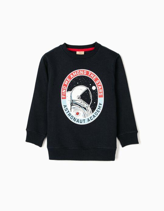 Sweatshirt para Menino 'Astronaut Academy', Azul Escuro