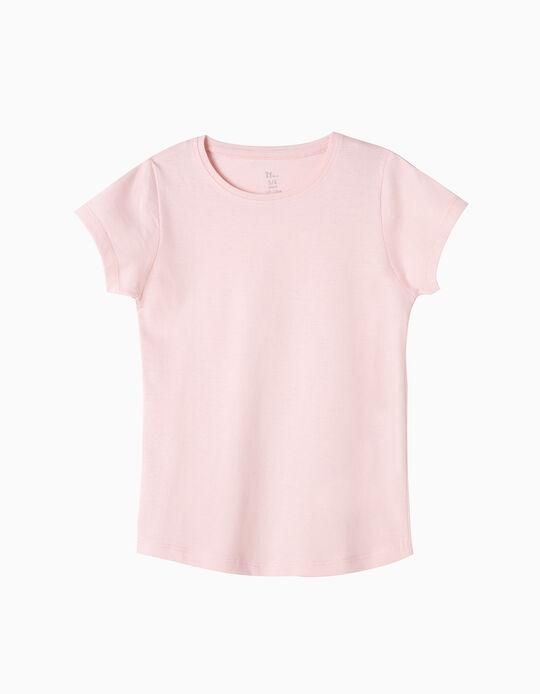 Camiseta Básica Rosa Claro