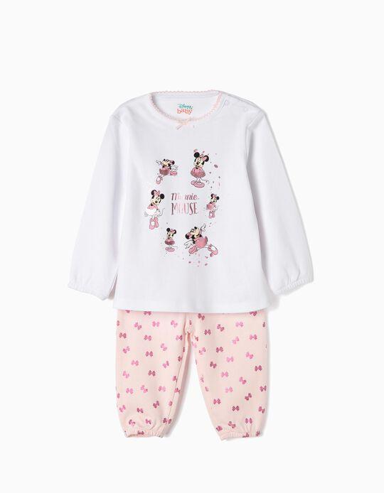 Pijama para Bebé Menina 'Minnie Ballerina', Branco e Rosa