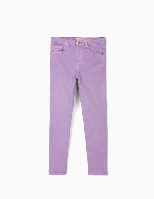 Twill Trousers for Girls 'Cosmic World', Lilac