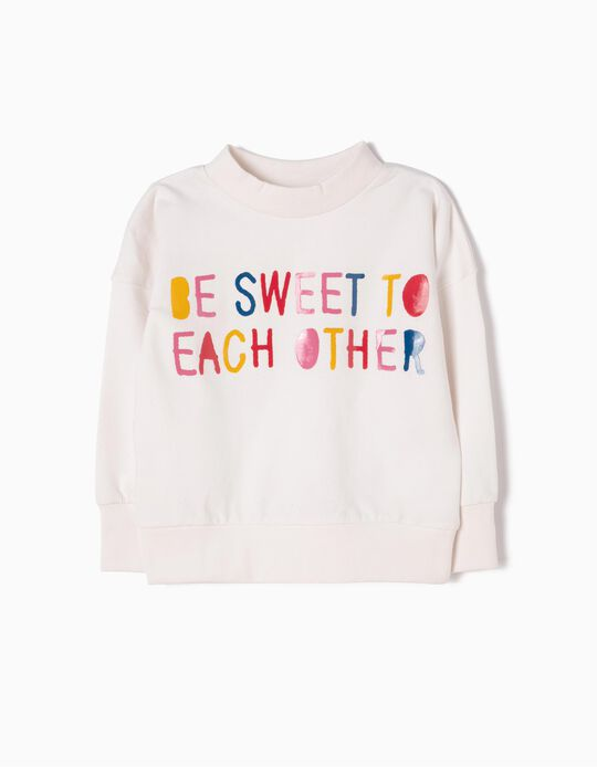 Sweatshirt Be Sweet Branca