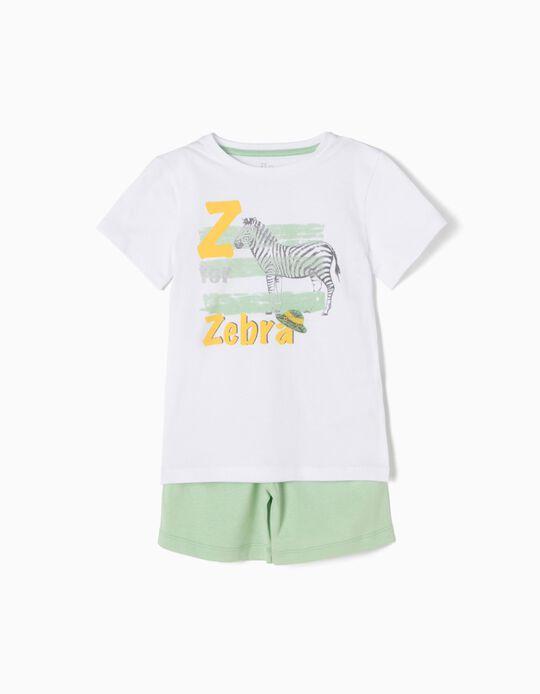 Pijama T-shirt e Calções Anti-Mosquito Zebra