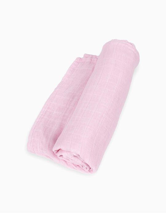 Fralda de Bambu Don Algodon Pink 120x120 CM