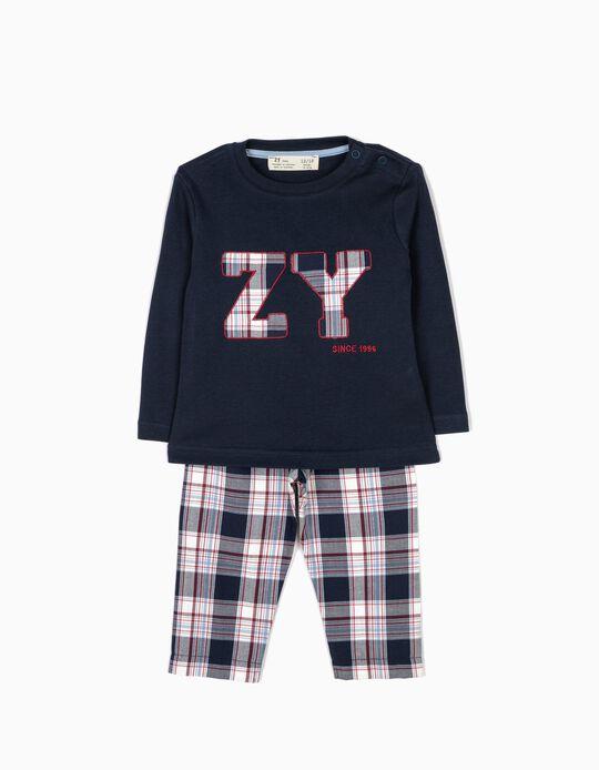 Pijama Bebé Menino Xadrez B&S