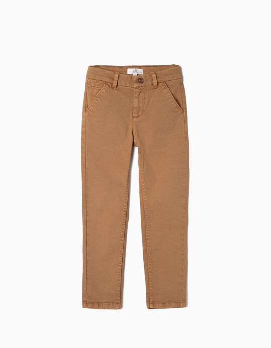 Chino Trousers for Boys, Camel