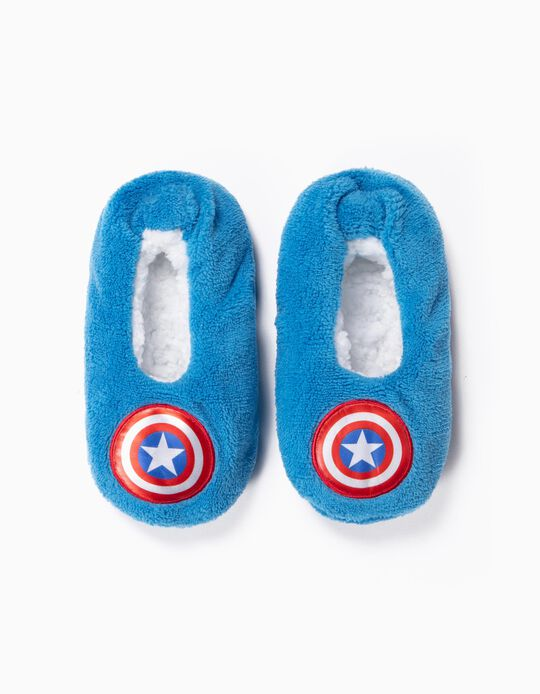Pantufas para Menino 'Captain America', Azul