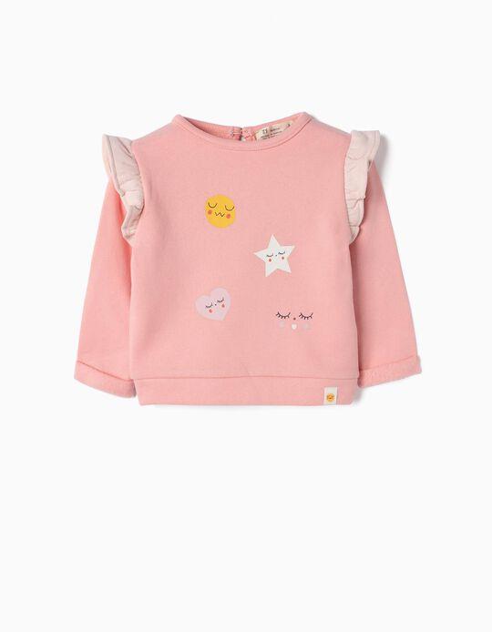 Sweatshirt for Newborn Girls 'Sweet Dreams', Pink