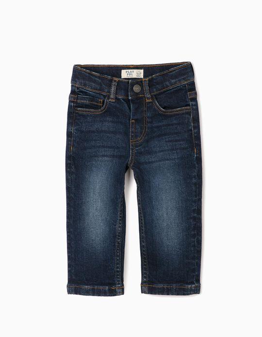 Pantalon en jean bébé garçon 'Confort Denim', bleu foncé