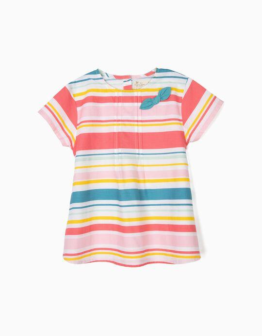 Blusa para Niña a Rayas, Multicolor