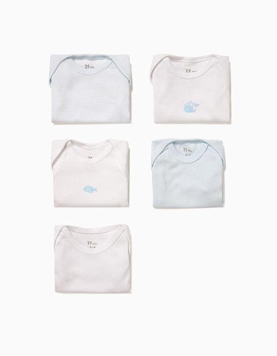 Pack 5 Bodies Azul y Blanco