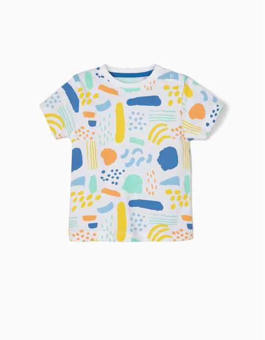 Camiseta para Bebé Niño 'Colors', Blanco