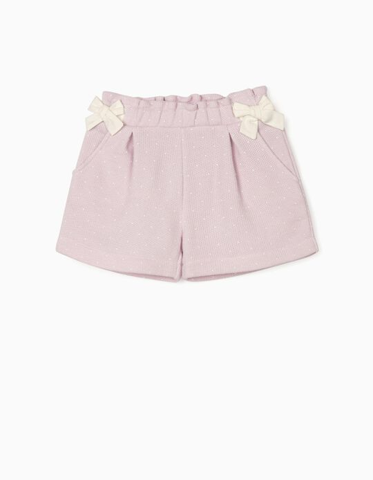 Knitted Shorts for Baby Girls, Purple