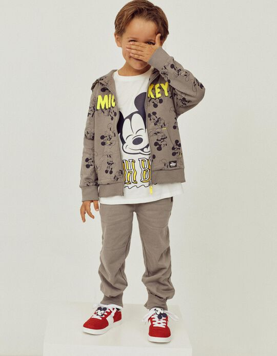 Camiseta de Manga Larga para Niño 'Mickey Oh Boy!', Blanco