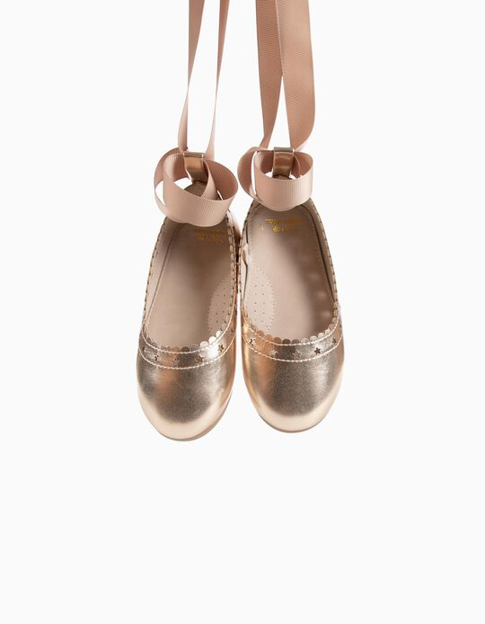 Ballerinas for Baby Girls 'Stars', Golden