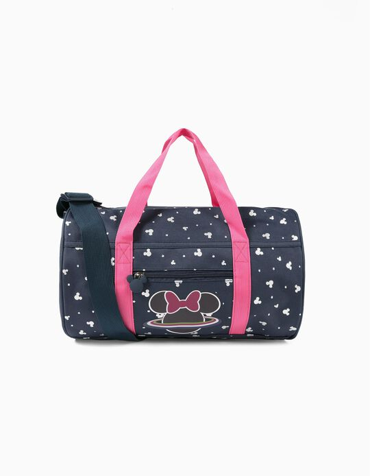 Sports Bag for Girls, 'Minnie Space', Dark Blue