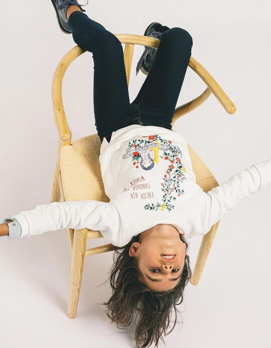 Sweatshirt para Menina 'Fresh Air', Branco