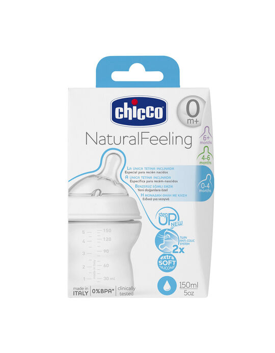 Feeding Bottle 150 ml 0M+ Silicone Chicco