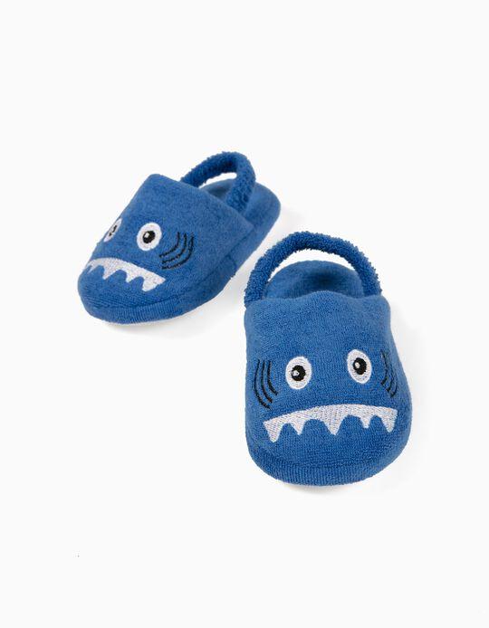 Slippers for Baby Boys, 'Shark', Blue