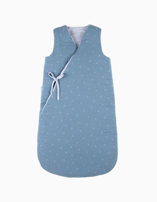 Saco De Dormir 90Cm Musselina Stars Blue
