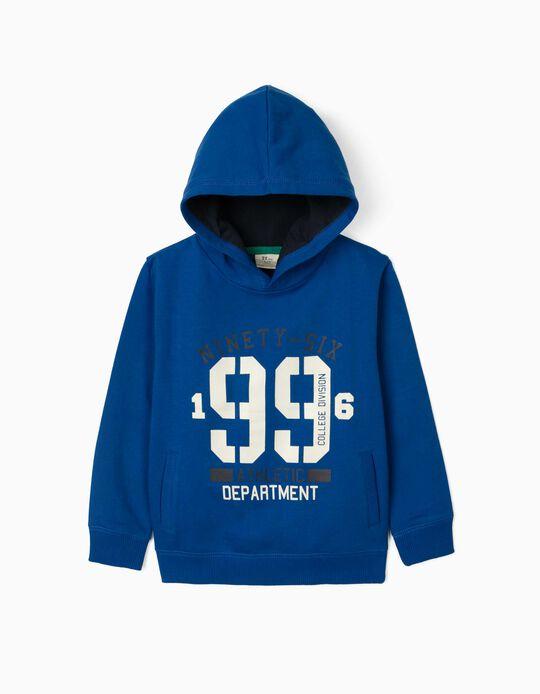 Sweat à capuche garçon '1996', bleu