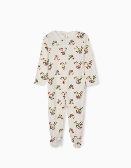Sleepsuit for Baby Girls, 'Minnie Mouse', White