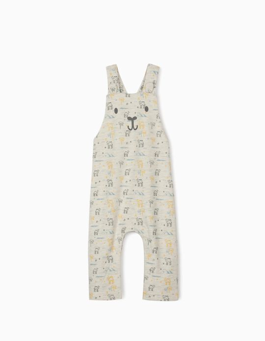 Jumpsuit for Newborn Baby Boys, 'Camels', Marl Grey