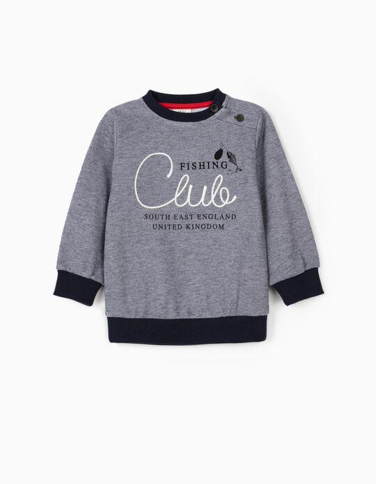 Sweatshirt para Bebé Menino 'Fishing Club', Azul