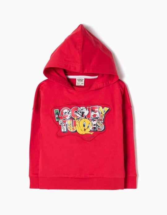 Sudadera con Capucha Looney Tunes Roja