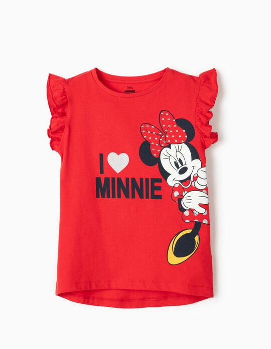 T-shirt 'Minnie' fille, rouge