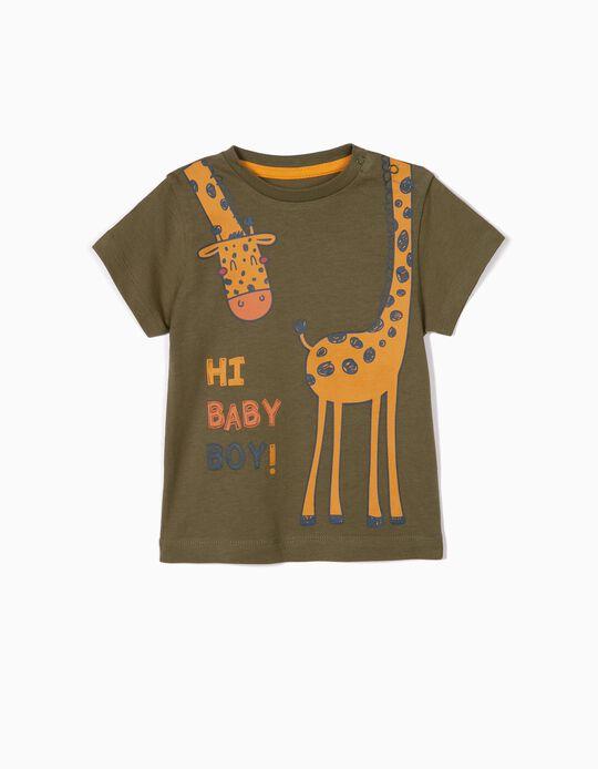T-shirt para Bebé Menino 'Giraffe', Verde
