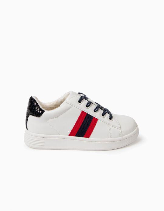 Zapatillas Blancas con Rayas