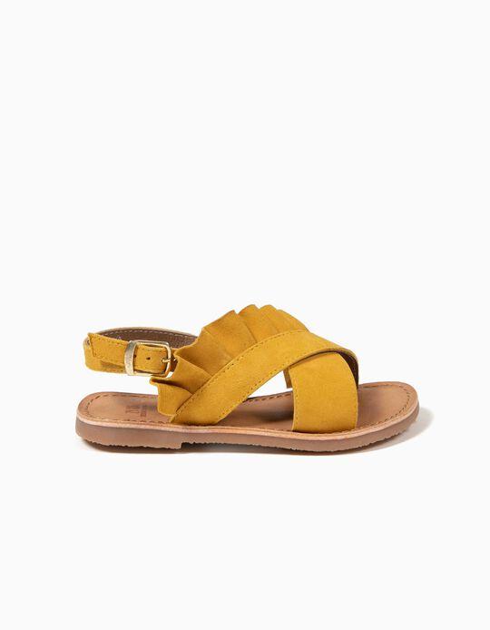 Sandalias con Volante Amarillas
