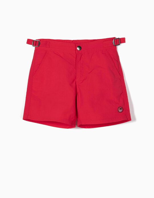 Swim Shorts for Boys, Red