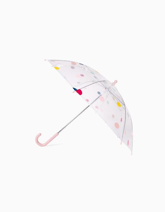 Paraguas para Niña 'Lunares', Transparente