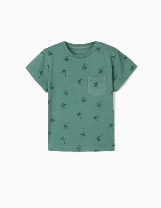 T-shirt for Baby Boys, 'Palm Trees', Green