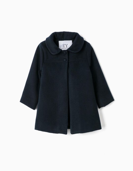 Coat for Baby Girls, Dark Blue